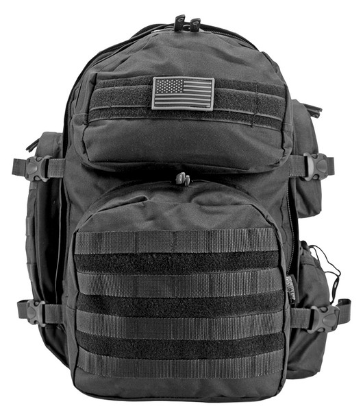 Carry large and small loads with equal ease using theElite Gear Hauler TrekkingBackpack. Able to expand when you need more storage space, this versatile pack includes a large main compartment complete with a laptop sleeve and mesh inner pocket, plus two large front pockets, a large side pocket, a drawstring side pocket, and a hidden zip back pocket.