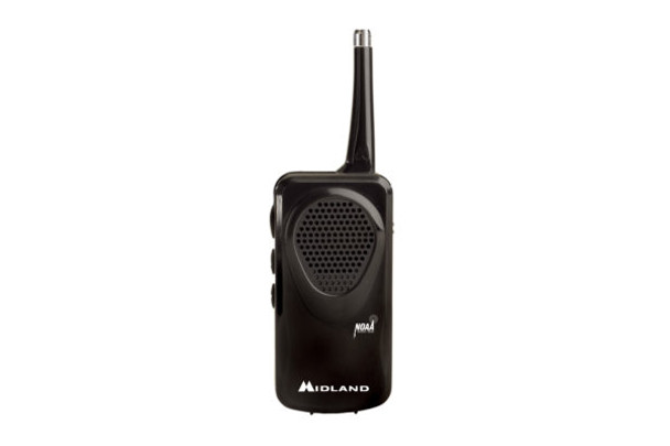 Perfect to take on the go, the HH50 emergency weather radio automatically scans all NOAA weather channels and conveniently fits into your pocket or purse.