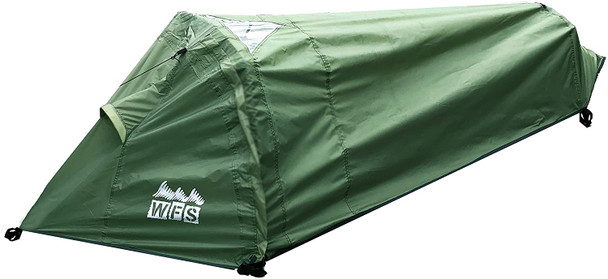 1-Person Bivy Camping Tent. Cozy and compact, the T-BIVY's small footprint is perfect for single-campers traveling light.