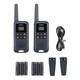 Onn. 16 Mile 22 Channel Walkie Talkie, 2 Pack, Gray