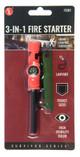 3-IN-1 Flint Fire Starter, Compass & Whistle