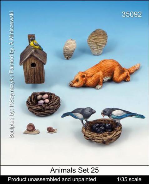 Animal set 25 (Birdnests and Beaver)