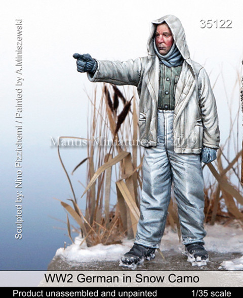 German in Snow Camo