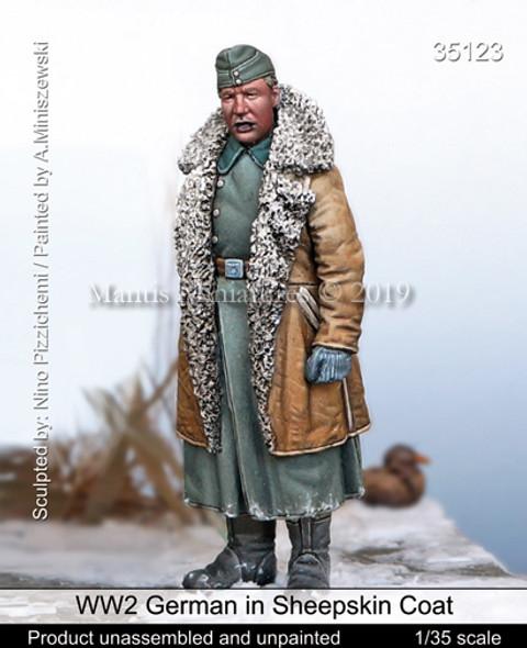 German in Sheepskin Coat