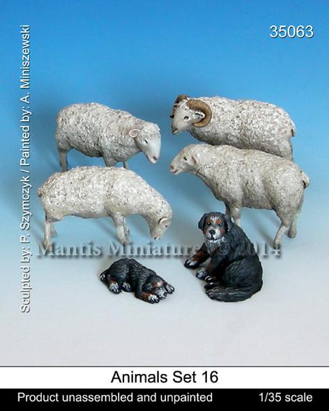Animals Set 16 - Sheep and dog