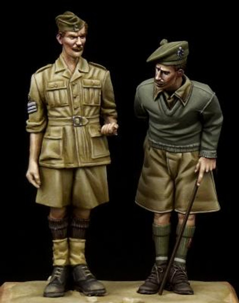 British NCO & Scottish Highlander Western Desert