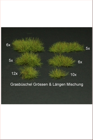 Grass Tufts, mix of different sizes & shapes - Light Green