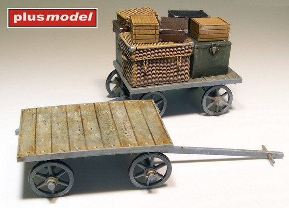 Railway Carts with Baggage
