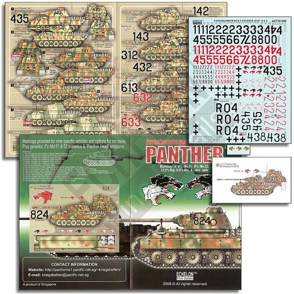 Pz.Abt.51/52 & 15.Pz.Rgt. Panther Ds & A