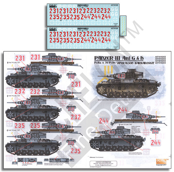 Pz.Rgt. 6 Panzer IIIs - Operation Barbarossa