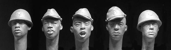 5 Japanese heads, WW2