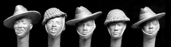 5 Gurkha heads WW2
