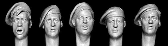 British WW2 style unbadged berets