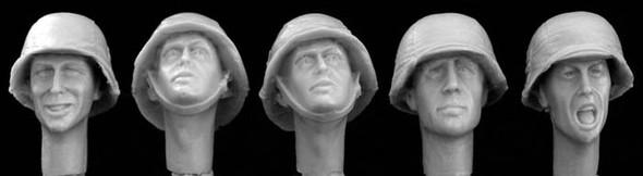 German WW2 covered helmets