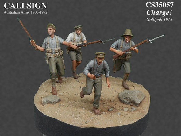 ANZAC Charge (4 fig vignette)