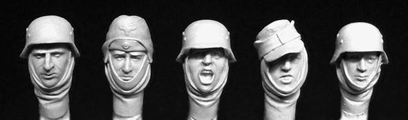 5 heads German soldiers wearing winter
