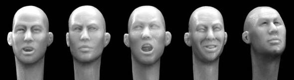 East Asian bald heads
