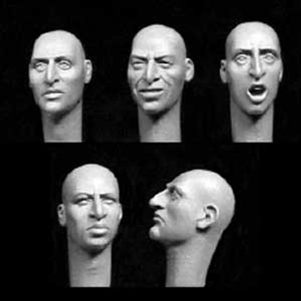 5 heads with aquiline features