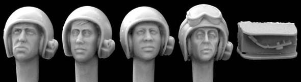 US AFV helmetmics1960s (4 heads)