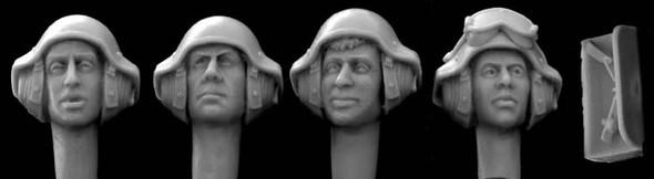 4 heads Israeli AFV helmet mics 80s