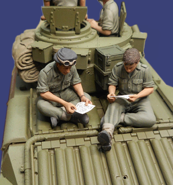 Letters Home - 2 Tank crew readings letters