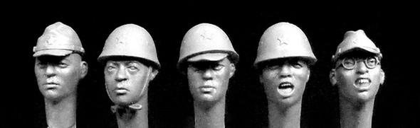 5 Japanese heads, WW2 #1