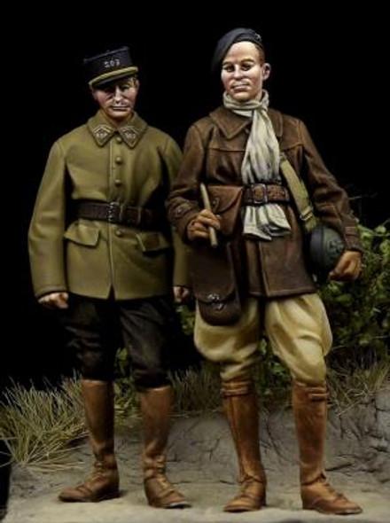 French Tank Crewman & French NCO WW II