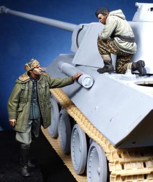 German Panther Commander & Waffen SS Officer WW II