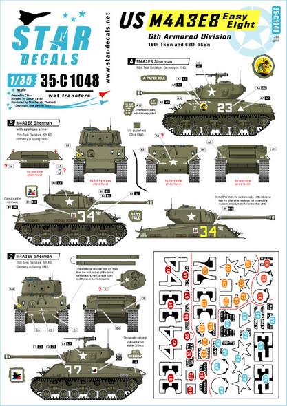 US M4A3E8 Easy Eight. 6th Armored Division M4A3E8 HVSS Sherman.