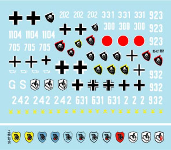 18. Panzer Division # 1. 1941-43. Pz II A-C and F, Tauch-Pz IV, Pz IV F / F2.