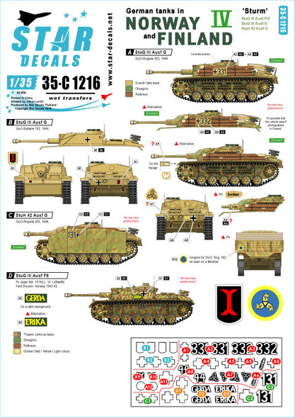 German Tanks in Norway & Finland # IV. StuG III Ausf F/2, StuG III Ausf G, StuH 42 Ausf G.
