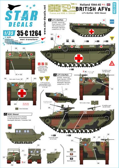 British Tanks & AFVs in Holland. LVT-4 Buffalo, M29C Weasel.