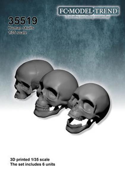 Human skulls,