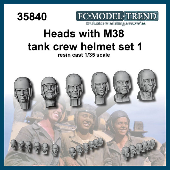 Heads with M38 helmet