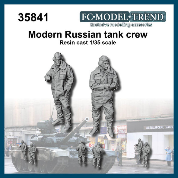 Modern russian tank crew