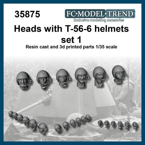 Heads with T-56-6 helmet set 1