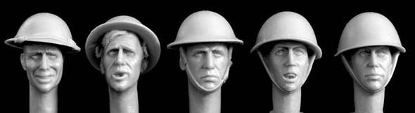 British steel helmets