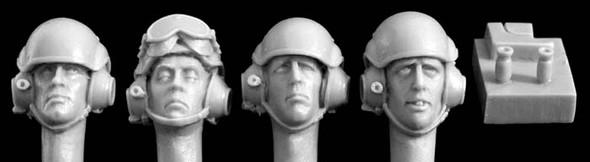 4 heads Modern UK tank crew