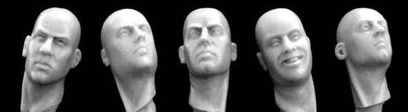 Heads necks turned right or left
