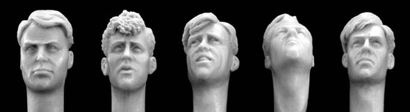 Heads with WW2 style haircuts