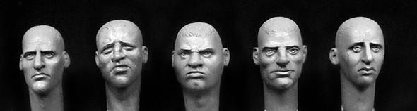 5 character heads bald