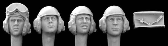 US modern tank crew, separate mics (4 heads)