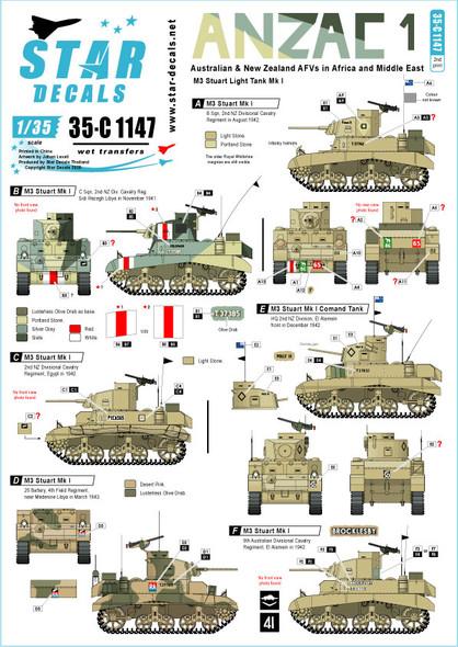 ANZAC M3 Stuart Africa 1941-43