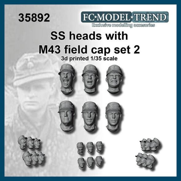 SS Heads M43 Field Caps #2