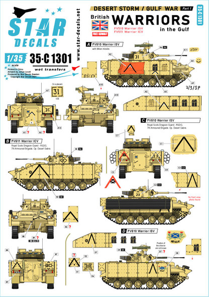 Desert Storm # 1. British Warriors in the Gulf 1990-91.