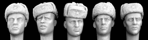 Soviet style ushanka winter caps