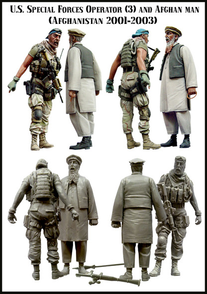 U.S.Special Forces & Afghan Man