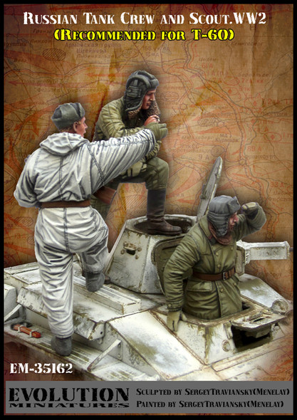 Russian Tank Crew and Scout (3)