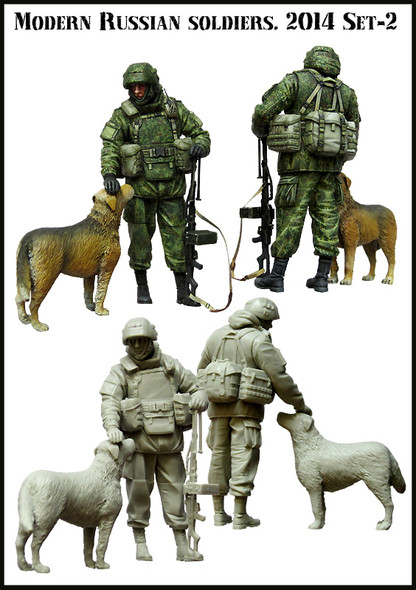 Modern Russian Soldier with dog