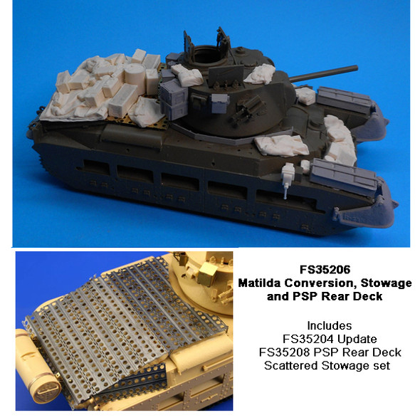 Australian Matilda Conversion, Stowage and Steel Rear Deck (scattered load)